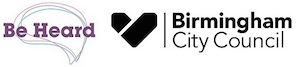 Be Heard and Birmingham City Council logo